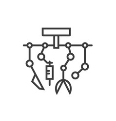 robotic surgery line icon vector image