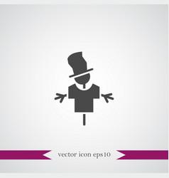 Scarecrow icon simple vector