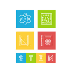 Science technology engineering and math - stem vector