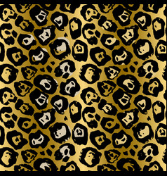 seamless leopard pattern animal skin grunge vector image