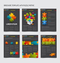 set of modern brochure flyer design templates vector image