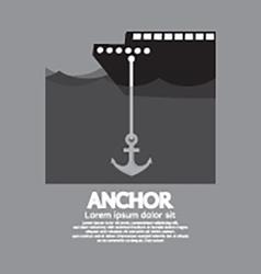 Ship Cast Anchor vector image