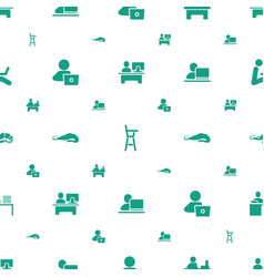 Sitting icons pattern seamless white background vector