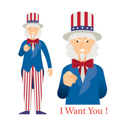 Uncle sam want you vector