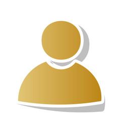 User sign golden gradient vector