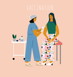 Vaccination and immunization concept vector