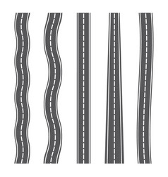 vertical seamless roads on white background set vector image