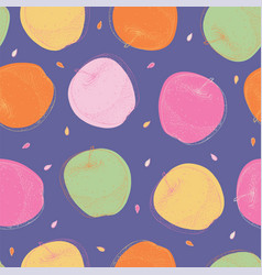 violet seamless pattern with apples vector image