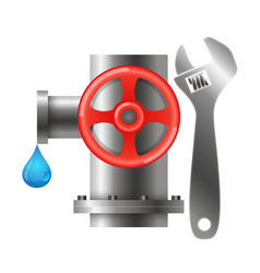 Water pipes and tools vector