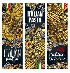 With italian pasta vector