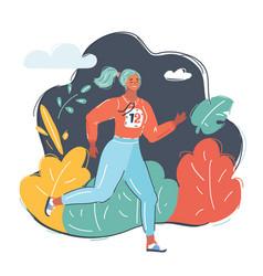 woman jog in park vector image