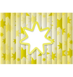 Abstract Background With Yellow Sun vector image vector image