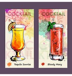 Artistic decorative cocktail menu vector image vector image