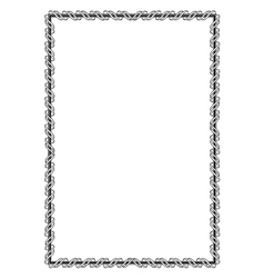 black ornamental decorative frame with ribbon vector image vector image