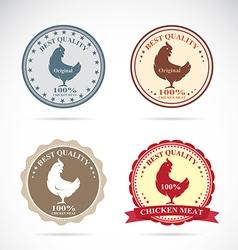 Chicken label vector image