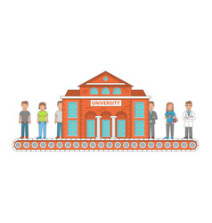 higher education concept in vector image