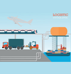 logistic info vector image vector image