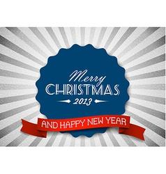 Simple vintage retro Christmas card vector image vector image