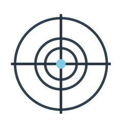 target drone isolated icon design vector image