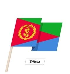 Eritrea Ribbon Waving Flag Isolated on White vector image