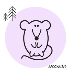mouse thin line icon vector image vector image