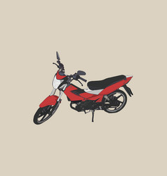 old and red motorbike sketch vector image