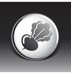 Radish abstract isolated logo beetroot food vector image vector image