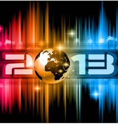 2013 New Year Celebration Background vector image vector image