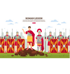 Ancient rome legion banner vector