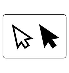 Arrows pointer signs set vector image vector image