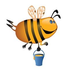 Flying bee vector image vector image