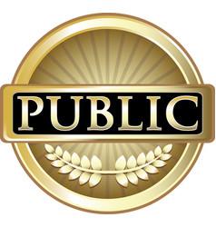 Public gold icon vector
