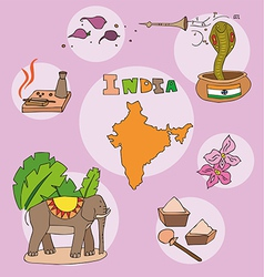 set of national profile of the india vector image vector image