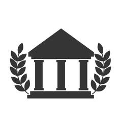 university college icon education academic vector image vector image