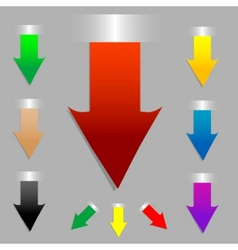 vector arrow set as tags stickers in color vector image vector image