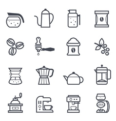 Coffee icon bold stroke vector