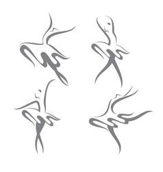 four ballerinas vector image