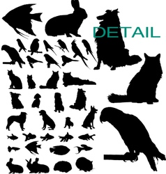 Pet silhouettes vector
