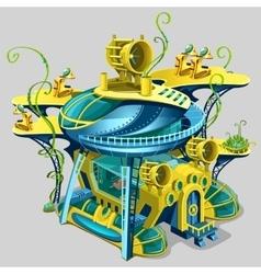 Scientific underwater station cartoon location vector image vector image