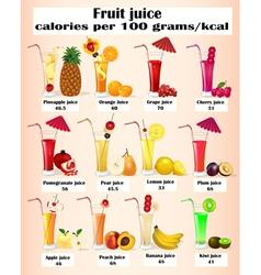 set of fruit juices vector image
