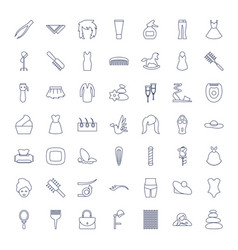 49 beauty icons vector