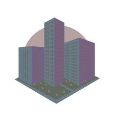 Abstract city block icon in perspective vector