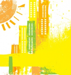 abstract city concept vector image