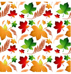 autumn leaf seamless background vector image