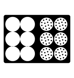 Bag for golf balls icon simple style vector