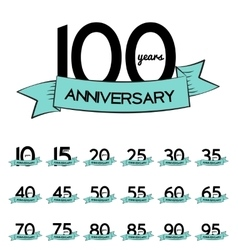 Big Collection Set of Template Logo Anniversary vector image vector image