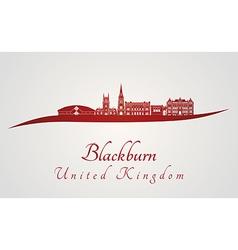 Blackburn skyline in red vector image