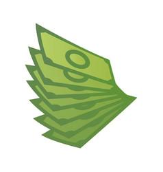 Cartoon money green banknote concept big vector