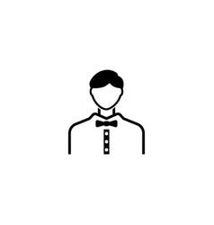 Casino croupier referee avatar flat icon vector