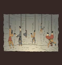 Characters imprisoned vector